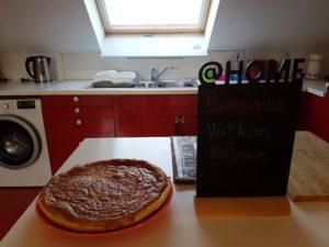 A l'arrivée de nos hôtes, très souvent une tarte au riz, spécialité belge, les attend au Gîte.  Voici la recette: